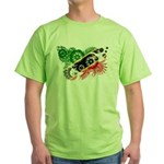 Saint Kitts Nevis Flag Green T-Shirt