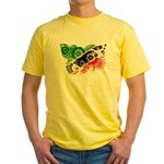 Saint Kitts Nevis Flag Yellow T-Shirt