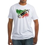 Saint Kitts Nevis Flag Fitted T-Shirt