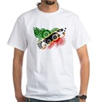 Saint Kitts Nevis Flag White T-Shirt