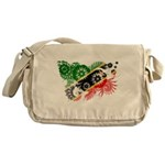 Saint Kitts Nevis Flag Messenger Bag