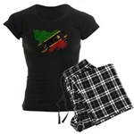 Saint Kitts Nevis Flag Women's Dark Pajamas