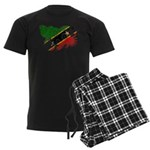Saint Kitts Nevis Flag Men's Dark Pajamas