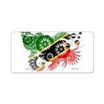 Saint Kitts Nevis Flag Aluminum License Plate