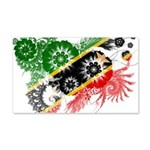 Saint Kitts Nevis Flag 22x14 Wall Peel