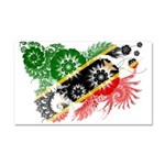 Saint Kitts Nevis Flag Car Magnet 20 x 12