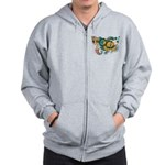 Saint Pierre and Miquelon Fla Zip Hoodie