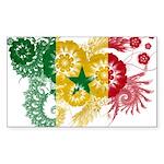 Senegal Flag Sticker (Rectangle 50 pk)