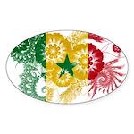 Senegal Flag Sticker (Oval 10 pk)