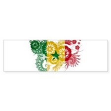 Senegal Flag Bumper Sticker
