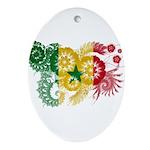 Senegal Flag Ornament (Oval)