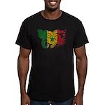 Senegal Flag Men's Fitted T-Shirt (dark)