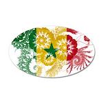 Senegal Flag 22x14 Oval Wall Peel