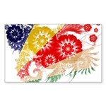 Seychelles Flag Sticker (Rectangle 10 pk)