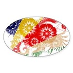 Seychelles Flag Sticker (Oval 50 pk)