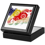 Seychelles Flag Keepsake Box