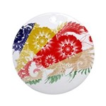Seychelles Flag Ornament (Round)