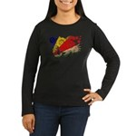 Seychelles Flag Women's Long Sleeve Dark T-Shirt