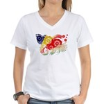 Seychelles Flag Women's V-Neck T-Shirt