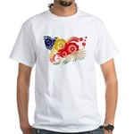 Seychelles Flag White T-Shirt