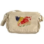 Seychelles Flag Messenger Bag