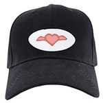 Winged Heart Black Cap