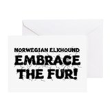 Norwegian Elkhound Greeting Card