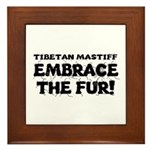 Tibetan Mastiff Framed Tile