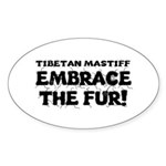 Tibetan Mastiff Sticker (Oval)