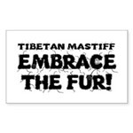 Tibetan Mastiff Sticker (Rectangle 10 pk)