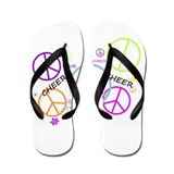Peace Signs Cheer Flip Flops