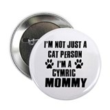 "Cymric Cat Design 2.25"" Button (100 pack)"