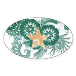 Somalia Flag Sticker (Oval 50 pk)