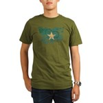 Somalia Flag Organic Men's T-Shirt (dark)