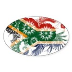 South Africa Flag Sticker (Oval 50 pk)