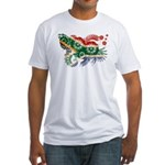 South Africa Flag Fitted T-Shirt