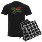 South Africa Flag Men's Dark Pajamas