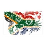 South Africa Flag 38.5 x 24.5 Wall Peel