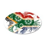 South Africa Flag 22x14 Oval Wall Peel
