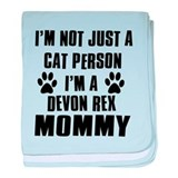 Devon Rex Cat Design baby blanket