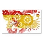 Spain Flag Sticker (Rectangle 50 pk)