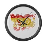 Spain Flag Large Wall Clock