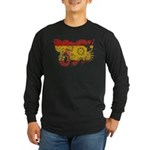 Spain Flag Long Sleeve Dark T-Shirt