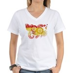 Spain Flag Women's V-Neck T-Shirt