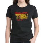 Spain Flag Women's Dark T-Shirt