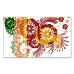 Sri Lanka Flag Sticker (Rectangle 10 pk)
