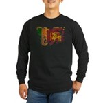 Sri Lanka Flag Long Sleeve Dark T-Shirt