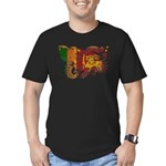 Sri Lanka Flag Men's Fitted T-Shirt (dark)