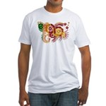 Sri Lanka Flag Fitted T-Shirt