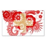 Switzerland Flag Sticker (Rectangle 50 pk)